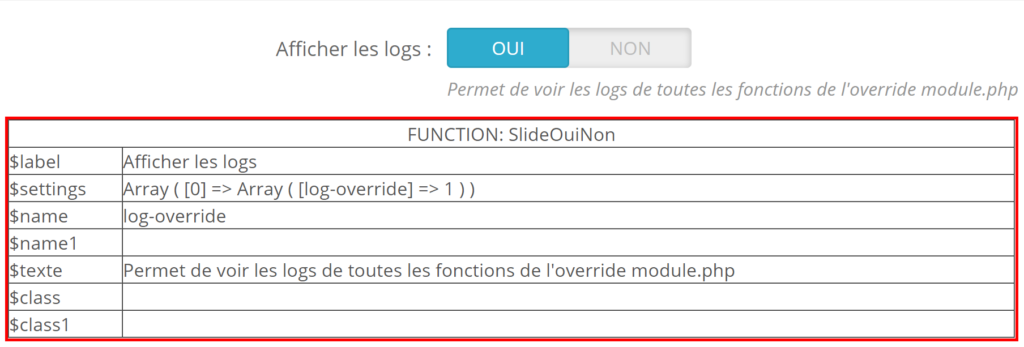 override module.php